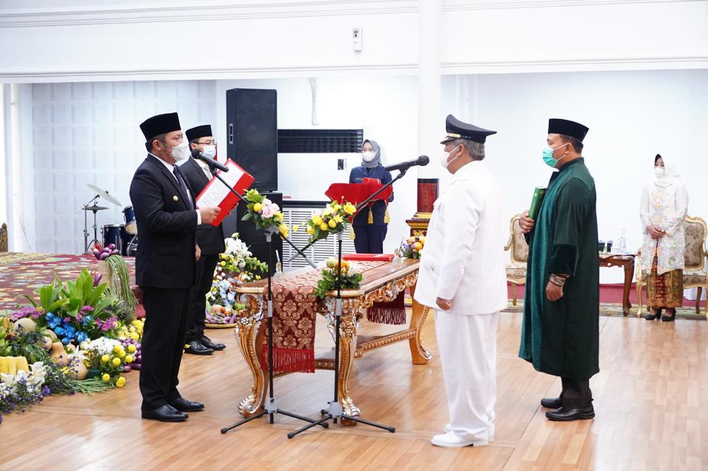 Gubernur Sumsel Herman Deru Lantik Pj Bupati PALI