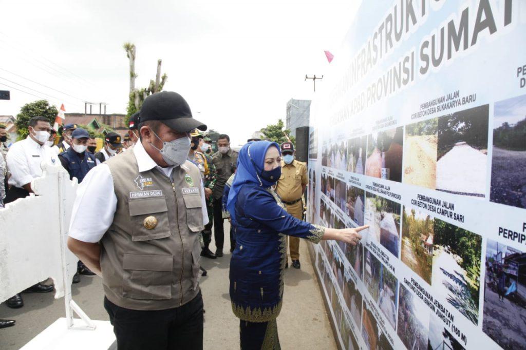 Gubernur Herman Deru Resmikan 46 Kegiatan Infrastruktur di Musi Rawas