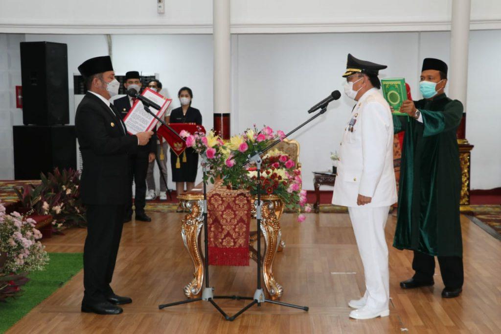 Gubernur Sumsel Lantik Nasrun Umar Sebagai Penjabat Bupati Muaraenim