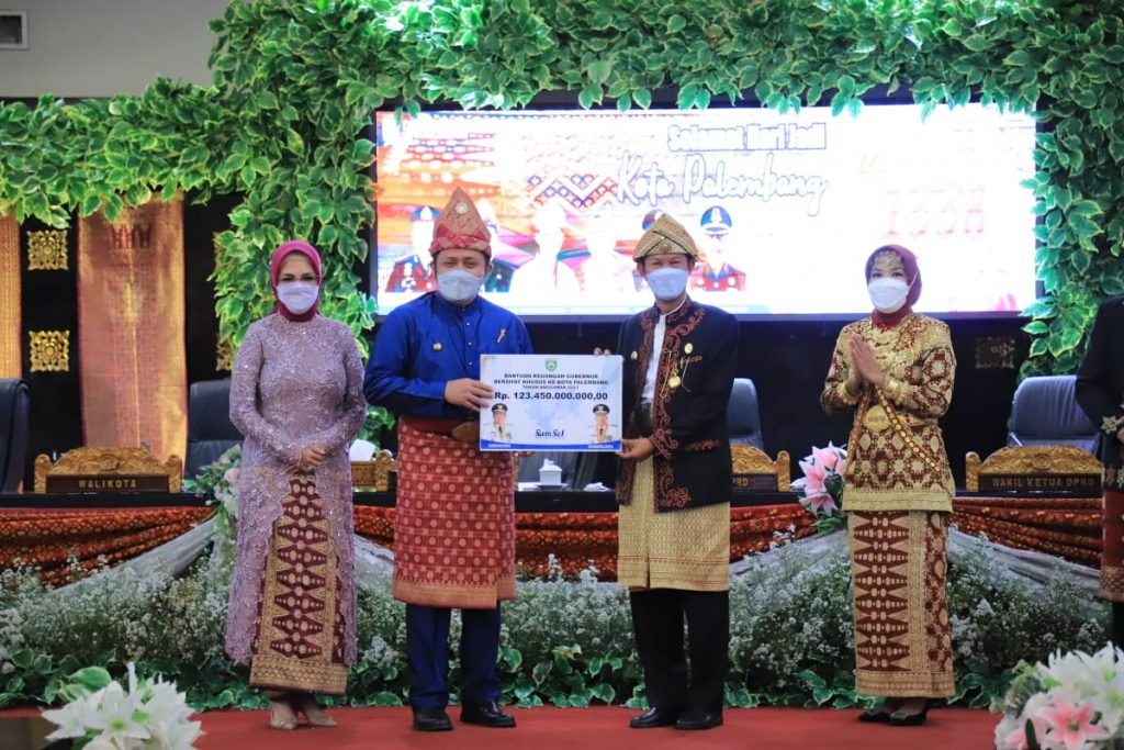 Herman Deru Hadiahi Kota Palembang Rp123 Miliar untuk Pembangunan Infrastruktur