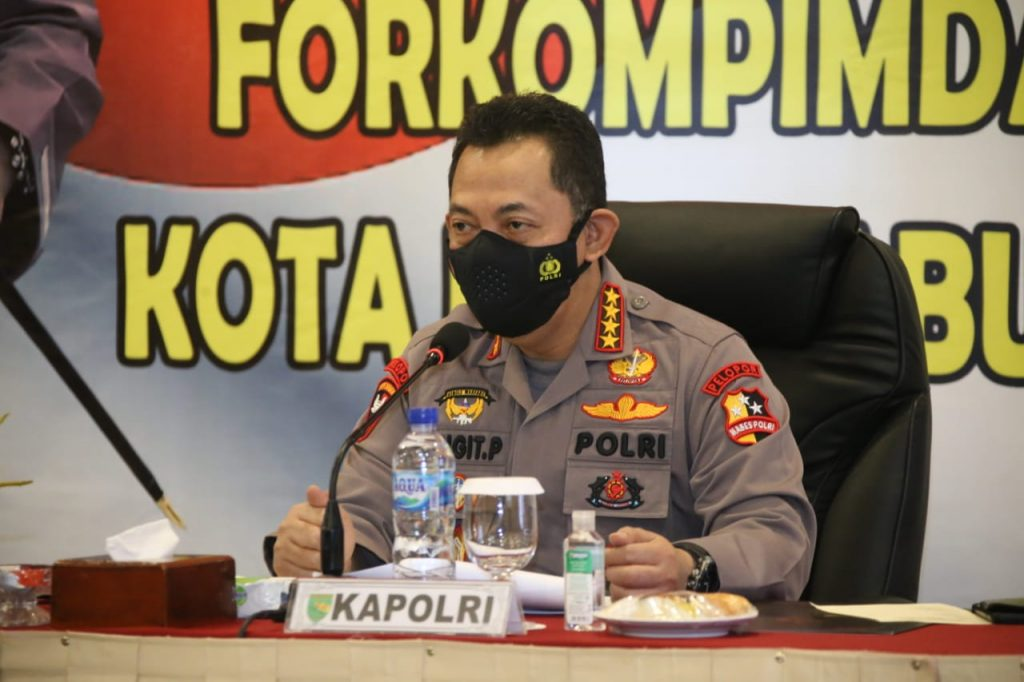 Pimpin Rapat Forkopimda Jayapura, Kapolri Tekankan Kesiapan PON dan Penanganan Covid-19