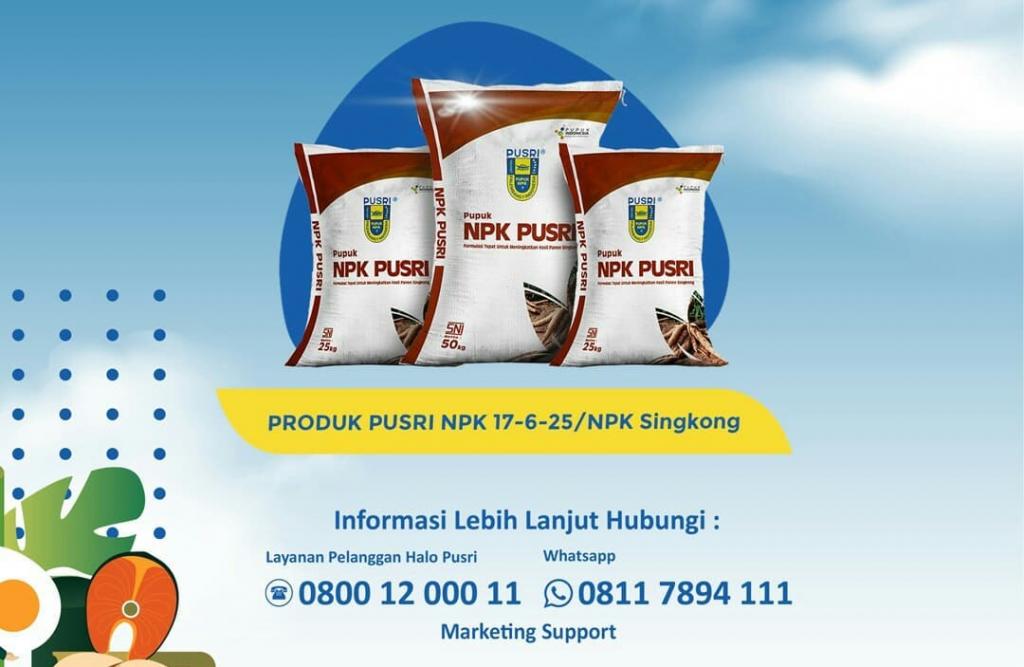 PUSRI Terus Sosialisasikan Keunggulan Pupuk NPK Singkong ke Petani Lampung