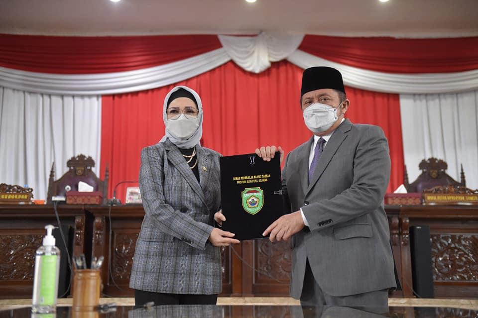 DPRD Prov. Sumsel Setujui Raperda Perubahan APBD Tahun Anggaran 2021