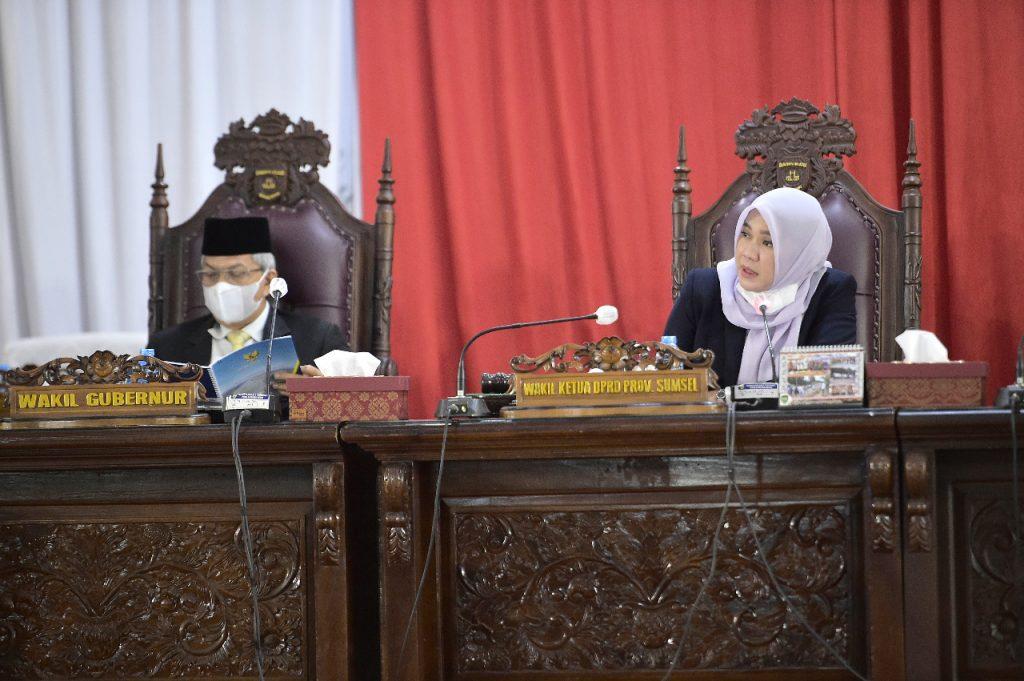 DPRD Sumsel Dengarkan Jawaban Gubernur Terhadap Pemandangan Umum Fraksi