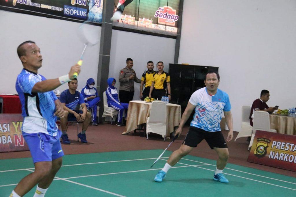 Kapolda Sumsel, PJU dan Para Kasatwil Polda Sumsel Olahraga bersama